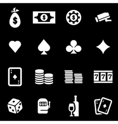 white casino icon set vector image