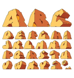 Alphabet made of stone vector image