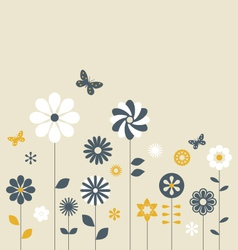 Candy Flowers vector image