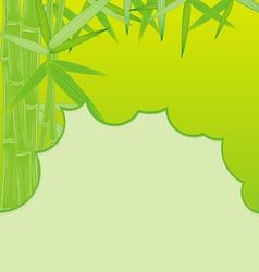 cut bamboo green vector image
