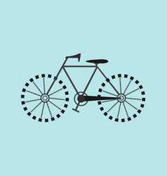 Flat bicycle icon vector