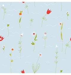 Floral pastel seamless pattern with small flowers vector image vector image