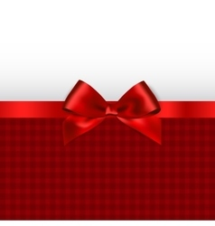 Holiday background with red bow vector image
