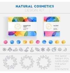 Natural cosmetics design kit vector image