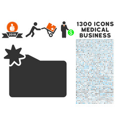 new folder icon with 1300 medical business icons vector image vector image