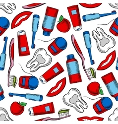 Oral hygiene and dental care seamless pattern vector image vector image