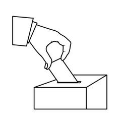 people vote icon image vector image