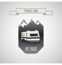 RV and caravan park logo badges Outdoor theme vector image vector image