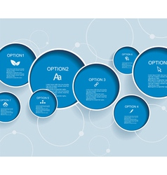 Web design with blue bubbles vector image