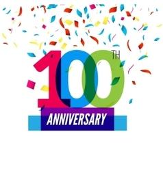 Anniversary design 100th icon anniversary vector image