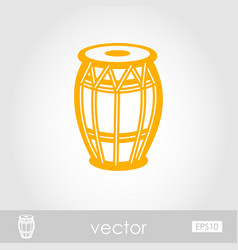 Drum outline icon summer vacation vector