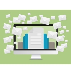 Email marketing concept and a lot of envelopes vector image