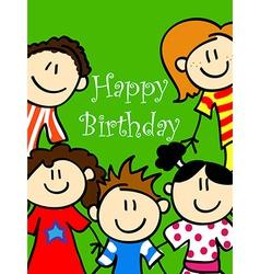 Kids birthday card 2 vector image