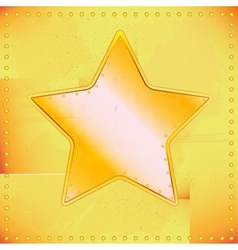 old riveted star vector image