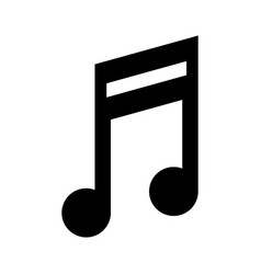 quaver music note icon image vector image vector image