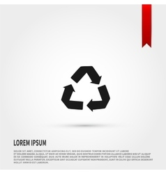 Recycle Icon Flat design style Template for de vector image