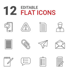12 message icons vector