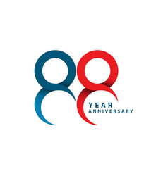 88 year anniversary template design vector image