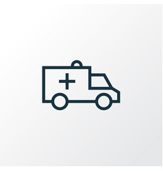 Ambulance outline symbol premium quality isolated vector