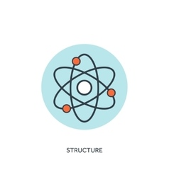 Atom molecule icon vector
