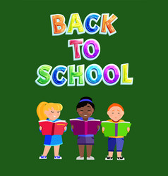 Back school education poster vector