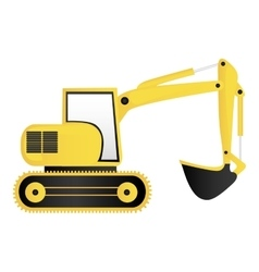 backhoe machine icon image vector image