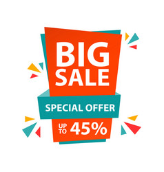 Big sale special offer up to 45 template design vector