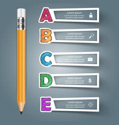 Business alphabet infographics pen icon vector