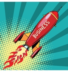 Business startup rocket vector