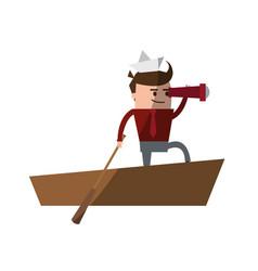 businessman cute cartoon icon image vector image