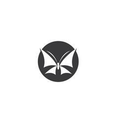 butterfly logo template icon vector image