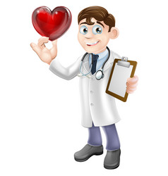 Cartoon heart doctor vector