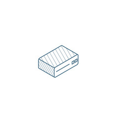 cd player console dvd cd-rom isometric icon 3d vector image