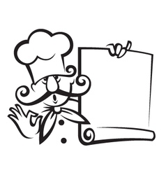 Chef with menu vector
