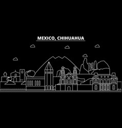 chihuahua silhouette skyline mexico - chihuahua vector image