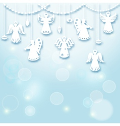 Christmas Background - Angels vector