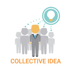 Collective idea businesspeople team cooperation vector