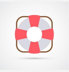colored lifebuoy trendy symbol vector image