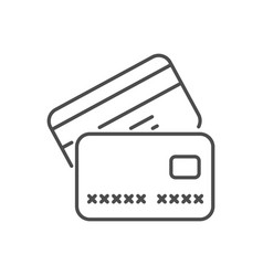 credit card related thin line icon vector image