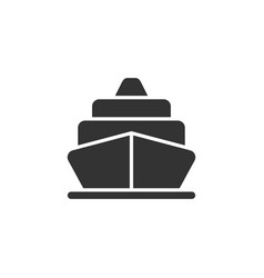 Cruise liner ship front view glyph style vector