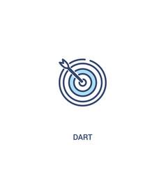 Dart concept 2 colored icon simple line element vector