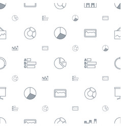 diagram icons pattern seamless white background vector image