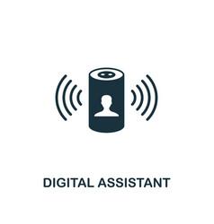 Digital assistant icon creative element design vector