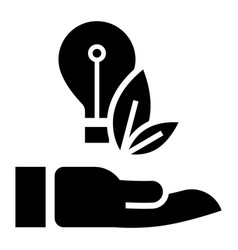 eco bulb care hand icon simple style vector image