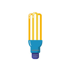 energy saving fluorescent light bulb flat icon vector image