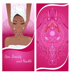 face massage flyer vector image