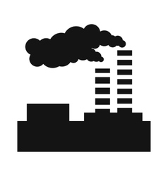 Factory pollution simple icon vector image