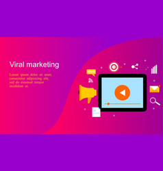 flat design content marketing system vector image