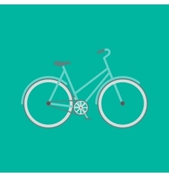 Flat modern bicycle vector