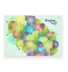 Floral card template corporate identity vector